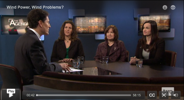 On its March 25th program, The Agenda  panel on wind energy featured three expert women. The fourth guest, not present in the studio, was male.